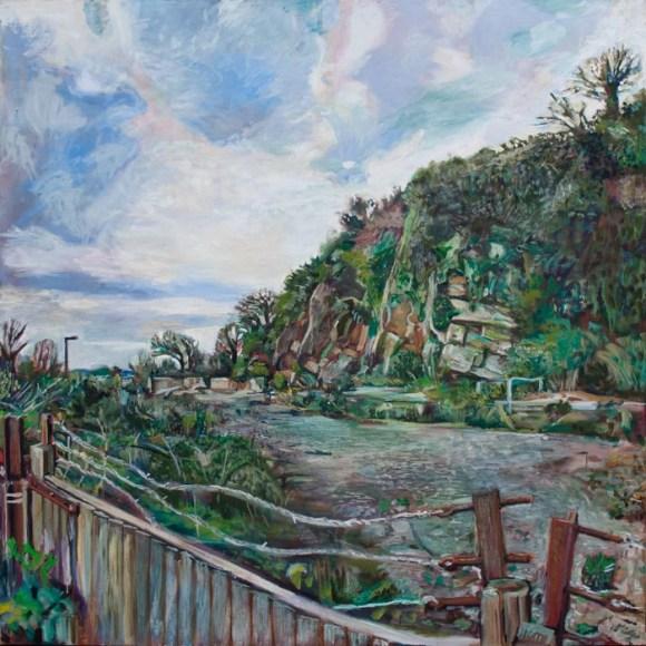 Oil painting of the Old Redhill Quarry in Totnes by Noel Hefele