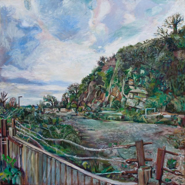 Oil painting of the Old Redhill Quarry in Totnes by Noel Hefele