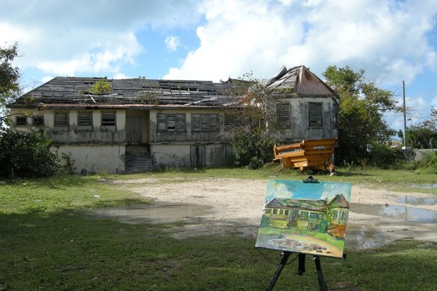 Painting the Barbuda Government Building art