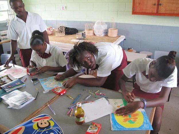 Barbudan Kids Drawing