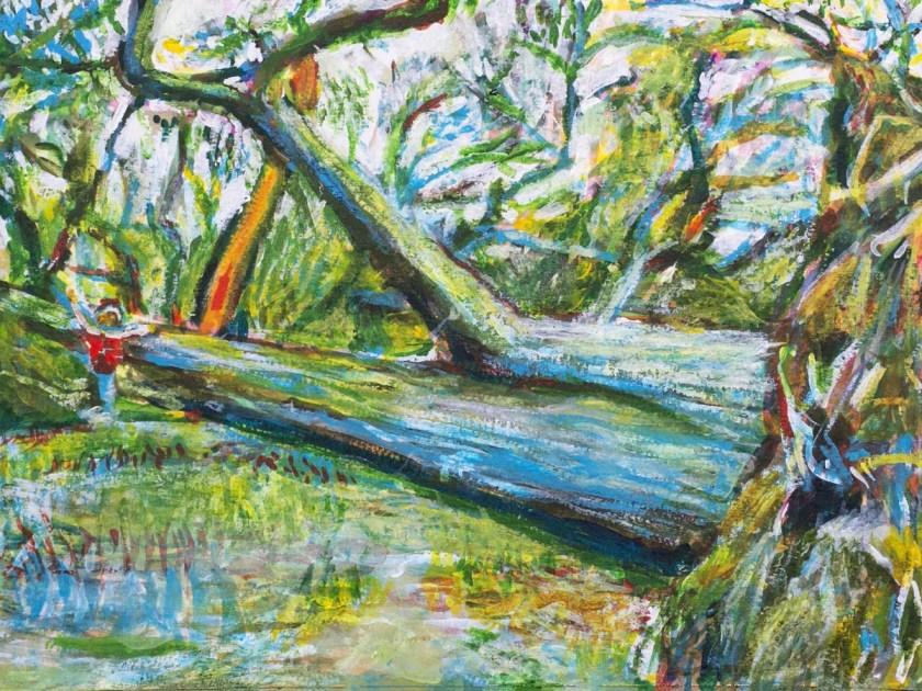 Fallen Tree Painting, Prospect Park by Noel Hefele