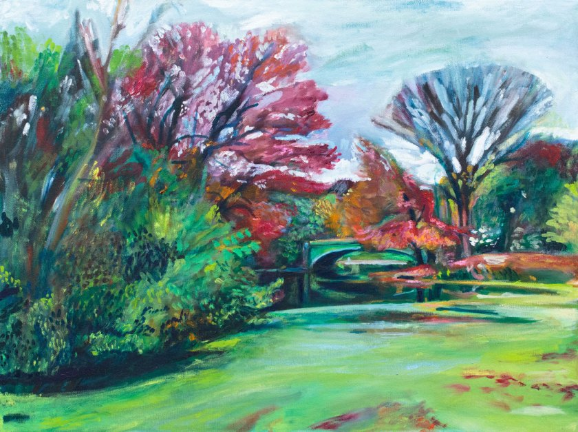 Painting of Prospect Park Lullwater Pond by Noel Hefele