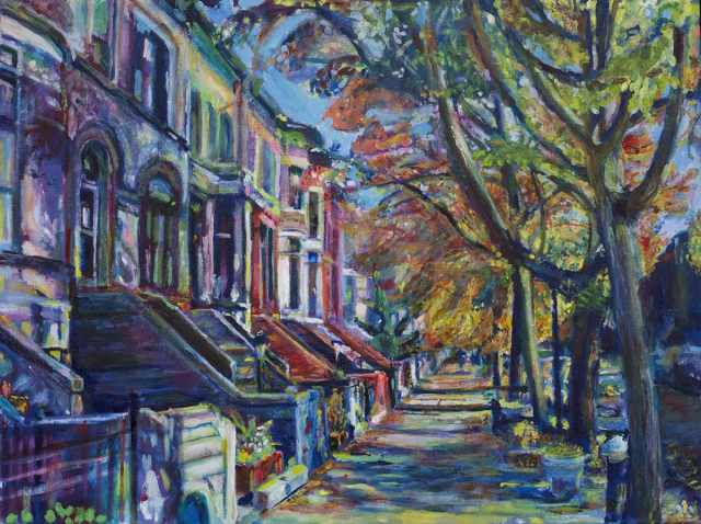 Painting of Midwood Road by Noel Hefele