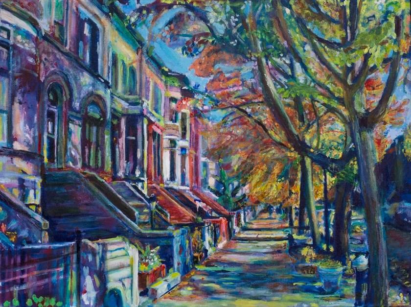 Painting of Midwood Road by Noel Hefele