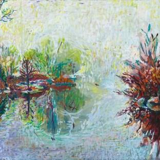 Painting of Prospect Park Mist by Noel Hefele
