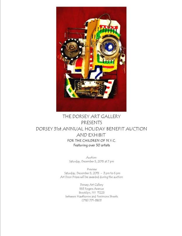 The Dorsey Gallery 31st Annual Holiday Benefit Auction – Dec 5th