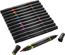 Prismacolor Premier Double Ended Brush Tip & Fine Tip Art Markers