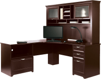 Realspace® Magellan Performance Collection Espresso L Desk