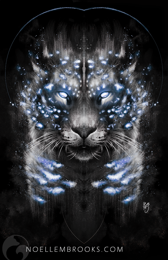 snow leopard, snow leopards, leopard, leopards, big cat, big cats, glow, glowing, digital media, graphic, graphic design, animal, animals, wildlife, nature, realism, realistic, noellembrooks, noelle m brooks, noelle brooks, portrait, portraits, portraiture, face, faces, close up, closeup