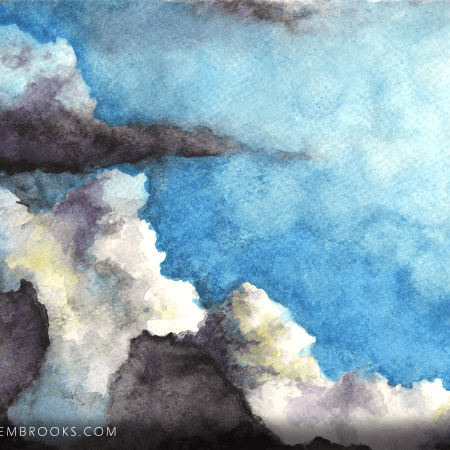 cloud, clouds, skyscape, landscape, from life, watercolor, watercolors, watercolour, watercolours, painting, paintings, paint, nature, realism, realistic, noellembrooks, noelle m brooks, noelle brooks, art, illustration, illustrations