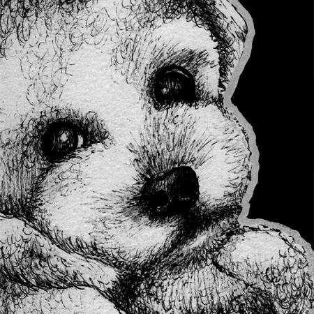 bichon frise, dog, dogs, puppy, puppies, cute, paw up, lying down, ink, inks, pen, pens, ballpoint pen, ballpoint pens, realism, realistic, animal, animals, wildlife, nature, achromatic, black and white, black, white, grey, gray, noelle, noelle brooks, noellebrooks, noelle m brooks, noellembrooks, art, series, drawing, drawings, picture, pictures, illustration, illustrations, portrait, portraits