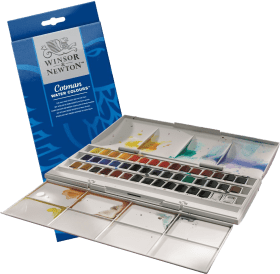 Winsor & Newton Cotman Water Color Half Pan Studio Set