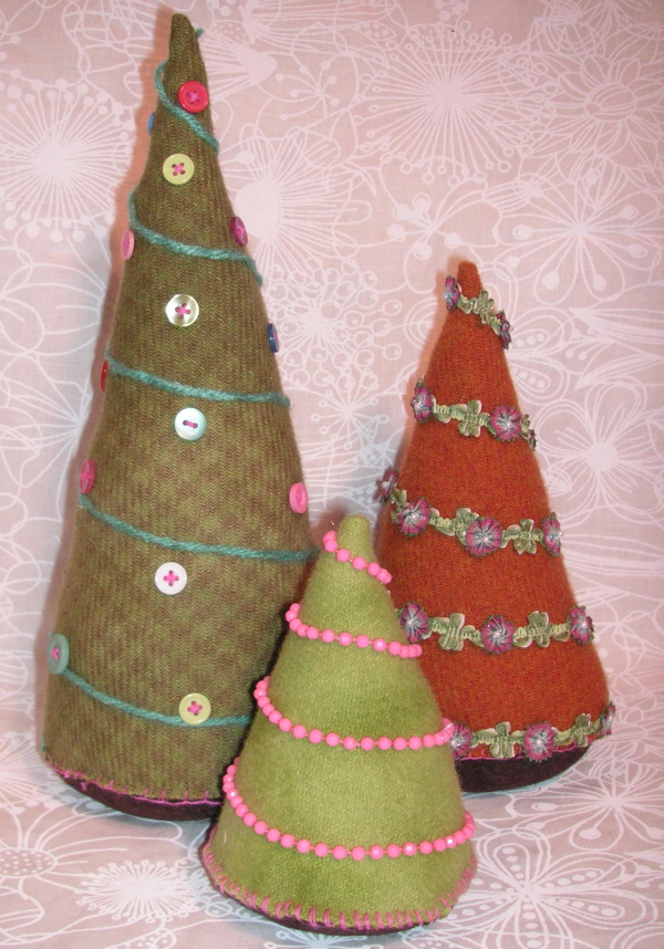 wool Christmas trees