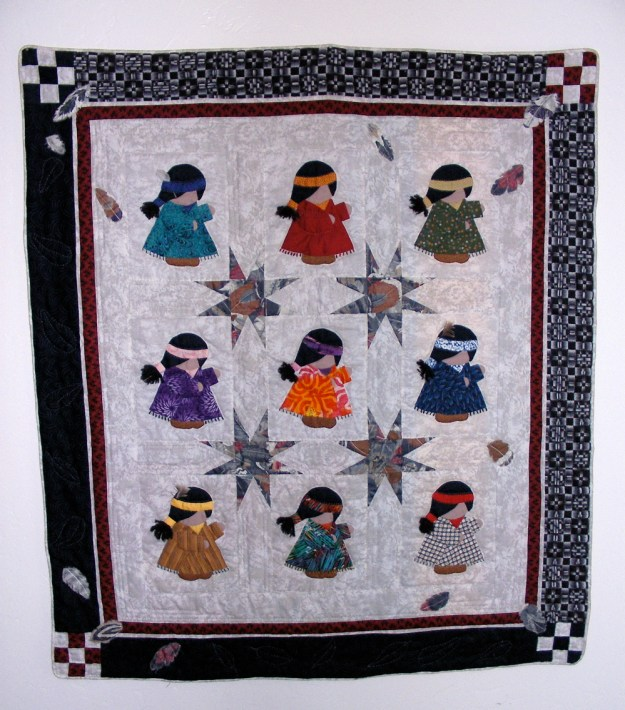 indian girl quilt