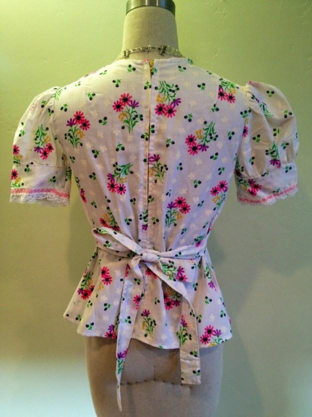 repurposed dress into shirt back