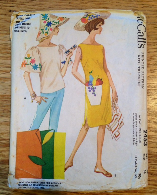 1961 vintage dress and hat pattern