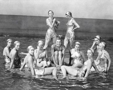 vintage swimwear, synchronized swimmers