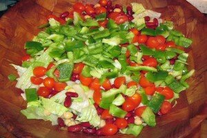 Bean Salad with Vegetables