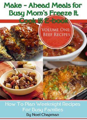 Make Ahead Meals For Busy Moms Volume One Beef