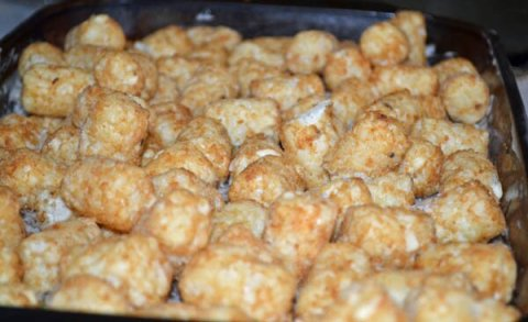 Top with Tater tots