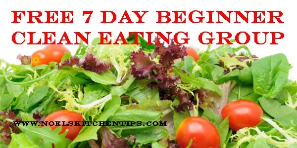 Free 7 Day Beginner Clean Eating Group