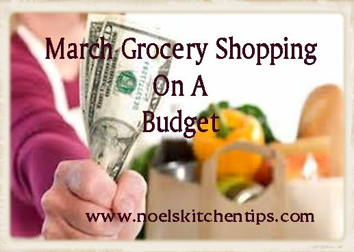 March Grocery Shopping On A Budget