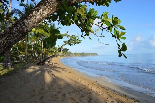 una delle spiagge nella penisola di Samanà