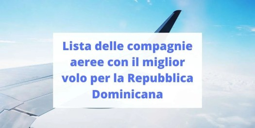 trova il miglior volo per la Repubblica Dominicana