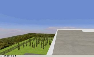 Il terrazzo del terzo piano