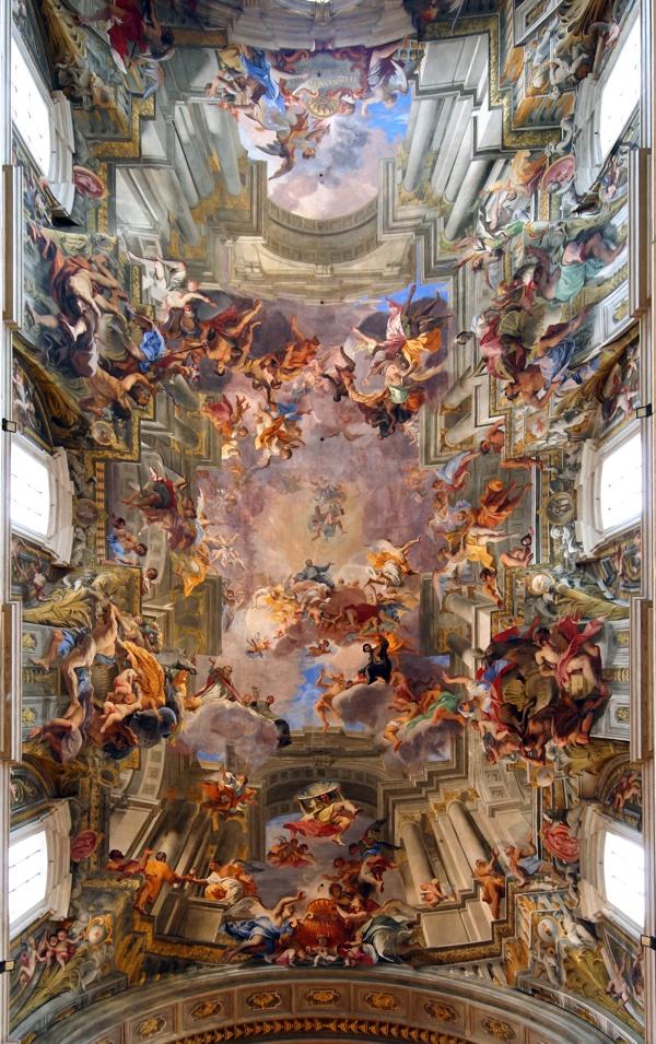 """Fig. 2 - """"Glory of Sant'Ignazio"""" by Andrea Pozzo (Photo Bruce McAdam)"""