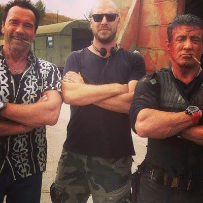 Nueva foto de Schwarzenegger y Stallone en el set de 'Los Mercenarios 3'