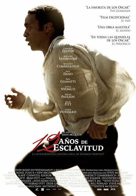 Póster final español de '12 años de esclavitud', con Brad Pitt, Michael Fassbender y Chiwetel Ejiofor