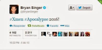 Bryan Singer hace oficial la fecha de estreno de 'X-Men: Apocalypse'