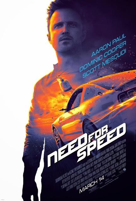 Póster oficial de la adaptación de 'Need for Speed', con Aaron Paul