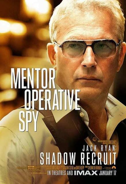 Kevin Costner ya tiene su póster de 'Jack Ryan: Operación sombra'