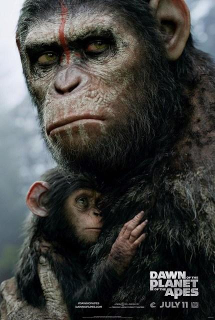 Nuevo póster e imágenes del rodaje de 'El amanecer del planeta de los simios'
