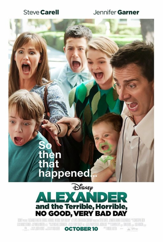 Póster y tráiler de 'Alexander and the terrible, horrible, no good, very bad day'