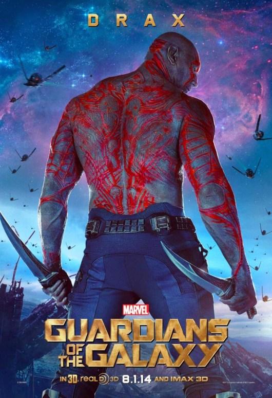 Nuevo póster individual para Drax de 'Guardianes de la galaxia'