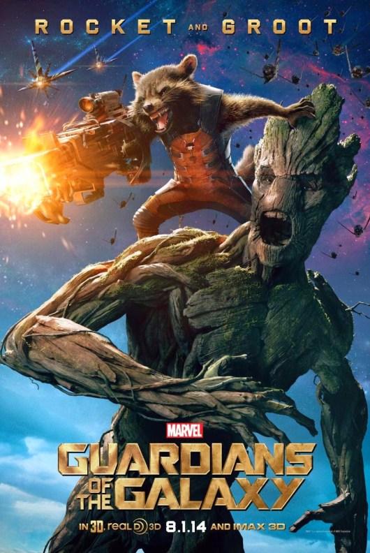 Rocket y Groot protagonizan el primer póster individual de 'Guardianes de la galaxia'