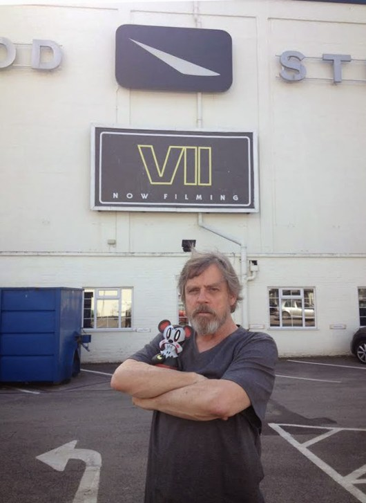 Mark Hamill ya luce barba en el set de 'Star Wars: Episodio VII'