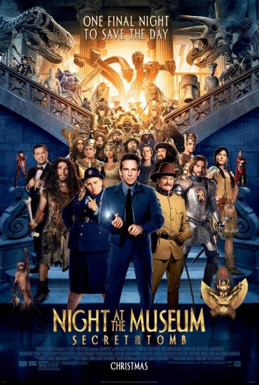 Nuevo póster internacional de 'Noche en el museo: El secreto del faraón'