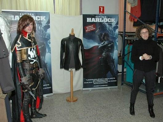 Evento cosplay de 'Capitán Harlock' en Sastrería Cornejo