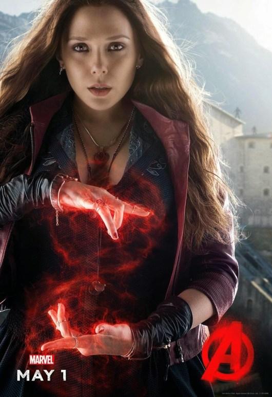 Pósters de Quiksilver y Bruja Escarlata para promocionar 'Vengadores: La era de Ultrón'