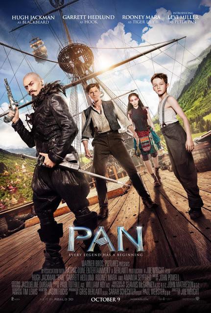 Nuevo póster internacional de 'PAN viaje a nunca jamás con el reparto principal