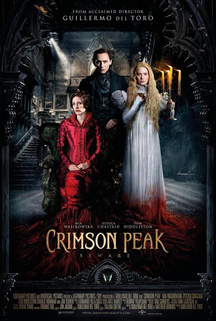 Póster oficial internacional de 'La cumbre escarlata' ('Crimson Peak')