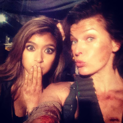 Milla Jovovich comparte nuevas fotos del rodaje de 'Resident Evil: The final chapter'