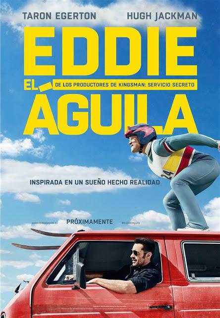 Póster y tráiler español de 'Eddie el Águila' con Hugh Jackman y Taron Egerton