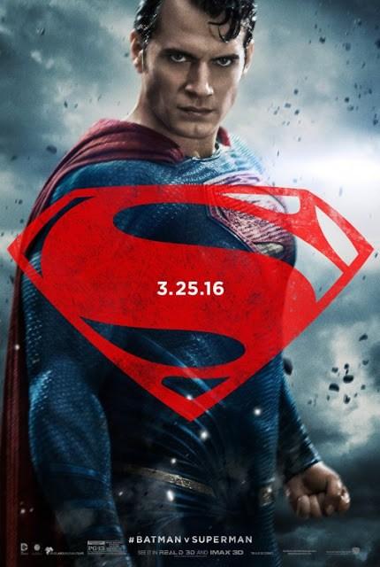 Pósters de los protagonistas de 'Batman v Superman: el amanecer de la Justicia'
