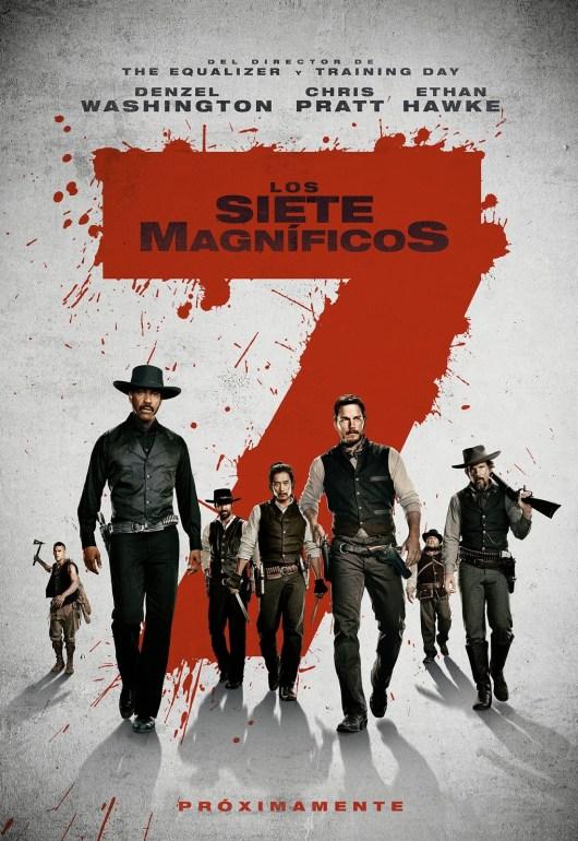 Póster oficial español de 'Los siete magníficos'