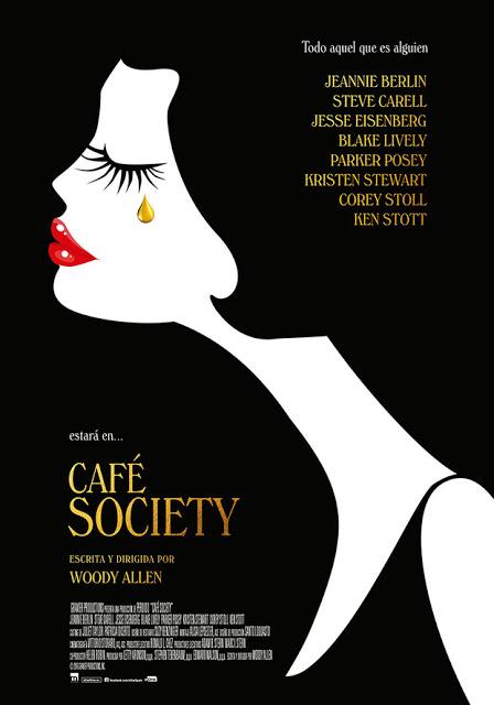Póster definitivo español de 'Café Society' de Woody Allen